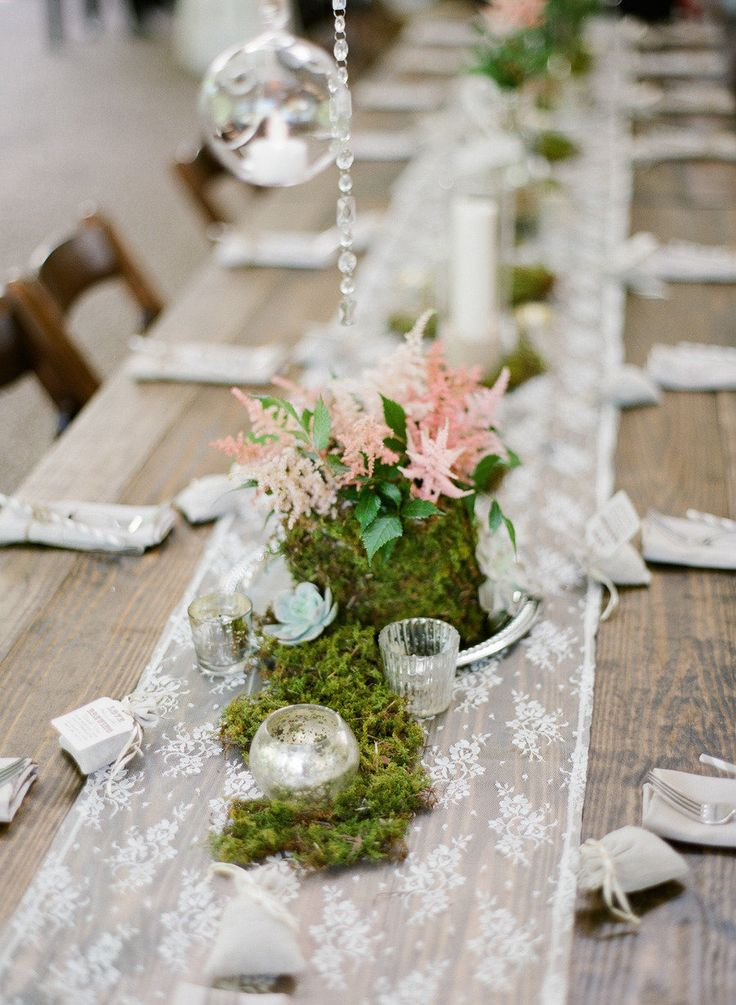 #tablescapes, #table-runnersPhotography: Brandon Chesbro - brandonchesbro.comPlanning: CJ's Off the Square - cjsoffthesquare.comFloral Design + Decor: The Enchanted Florist - enchantedfloristdfw.comRead More: http://stylemepretty.com/2013/07/23/vintage-nashville-wedding-from-brandon-chesbro/