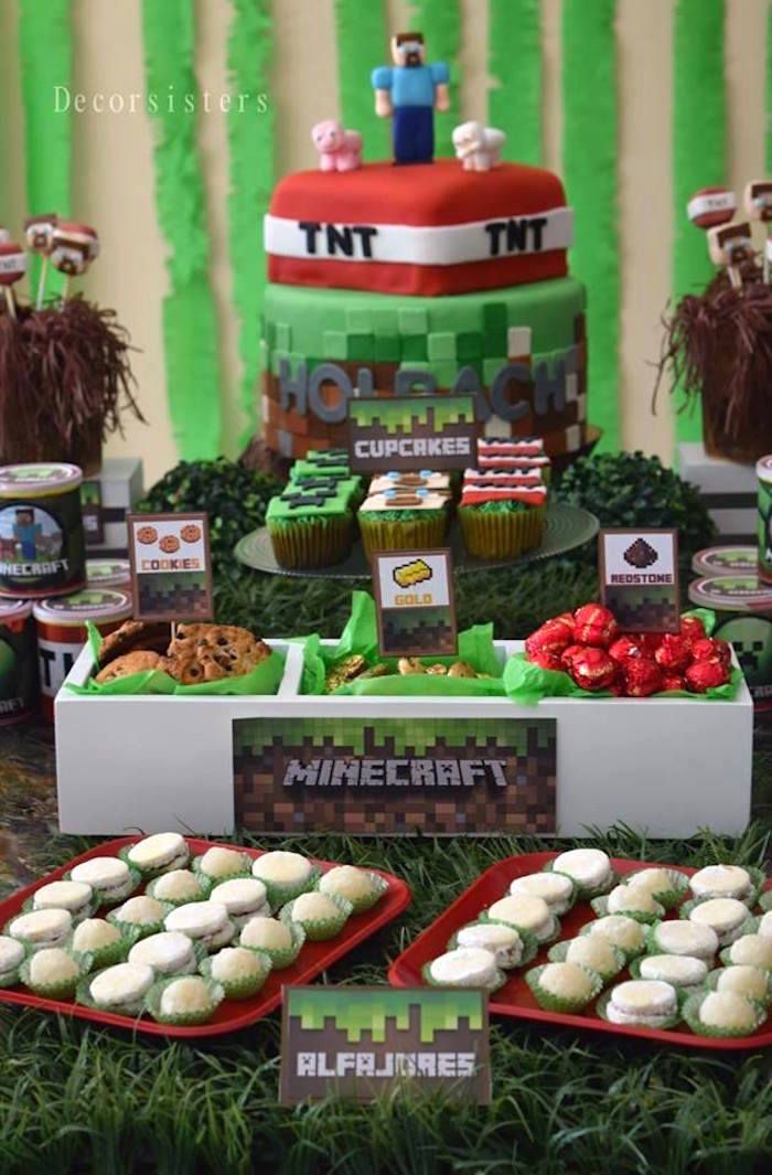 Sweets from a Minecraft Party via Kara's Party Ideas | KarasPartyIdeas.com (9)
