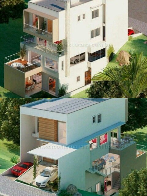 Pinterest: @claudiagabg | Casa 4 pisos 3 cuartos 1 sala de tv 1 estudio despensa jacuzzi y Apartamento en alquiler 3 cuartos despensa / fachada