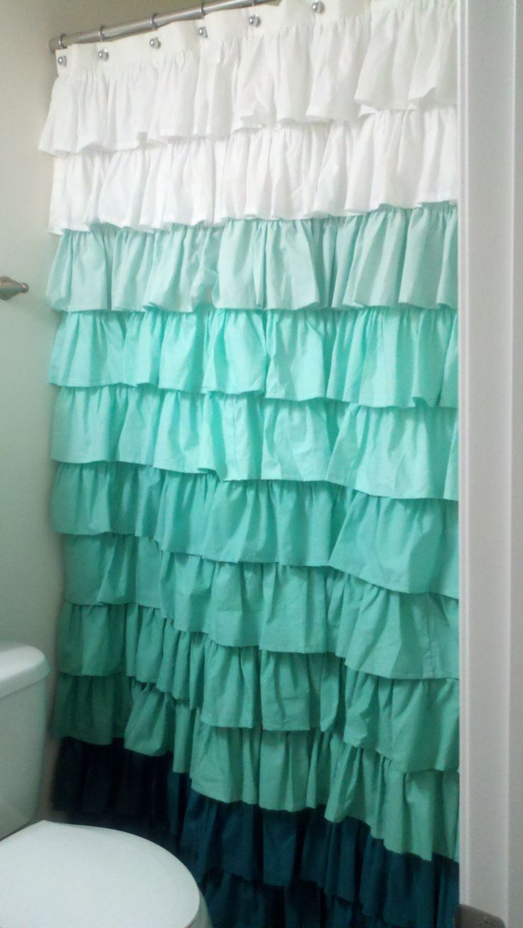 Ruffle shower curtain college and dorm pinterest window shower window and blue - Waves of ruffles shower curtain ...