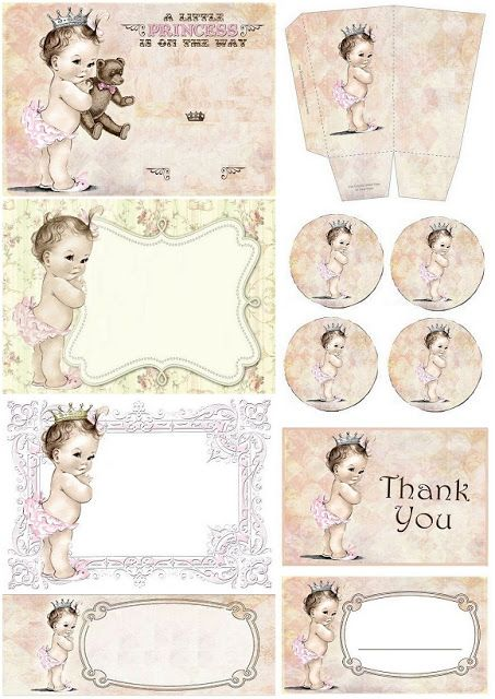 Lovely Baby Girl: Free Printable Kit.