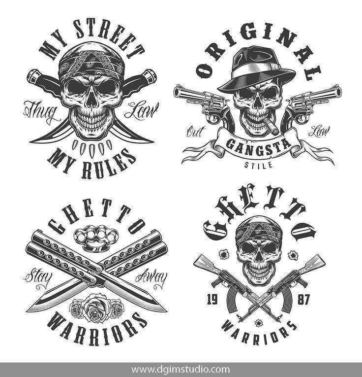 Gangster bundle gangster tattoos tattoo mafia jail tattoos