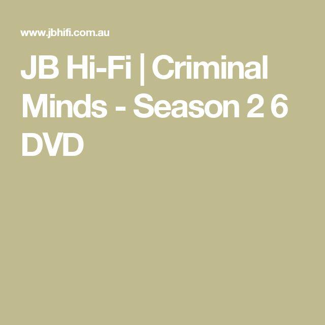 JB Hi-Fi | Criminal Minds - Season 2 6 DVD