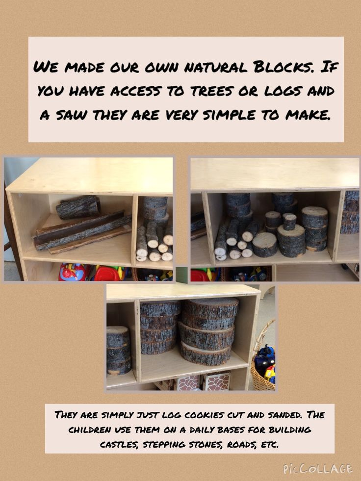 St. Martha Child Care Centre: Natural blocks in the Toddler Room