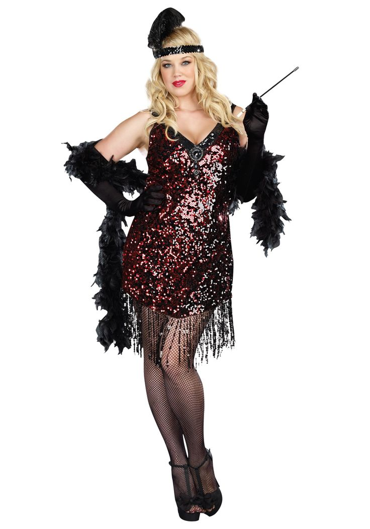 Plus Size Dames Like Us Flapper Costume