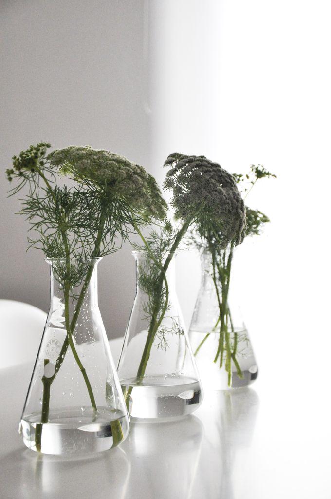 Vase verre - Erlenmeyer - chimie - curiosités - Mobilier vintage - Bel Ordinaire
