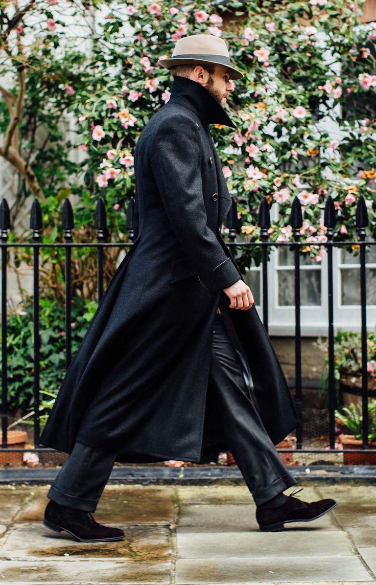 """Edward Sexton long overcoat. Source: permanentstyle.co.uk """