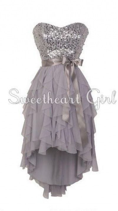 Pretty Sweetheart neckline high - low prom dress / ing dress