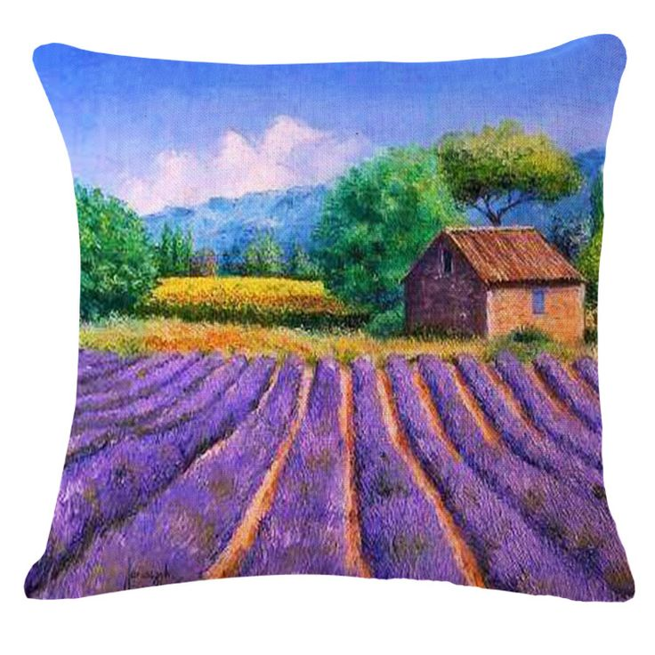 European Cushion Home Car Throw Pillow Lavender Manor Style Signature Cotton Funda Cojin Cushionno core Cushion YK997 #>=#>=#>=#>=#> Click on the pin to check out discount price, color, size, shipping, etc. Save and like it!