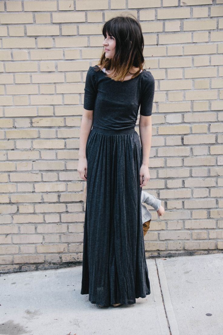 Simple black maxi dress. How did I miss this at Anthro?