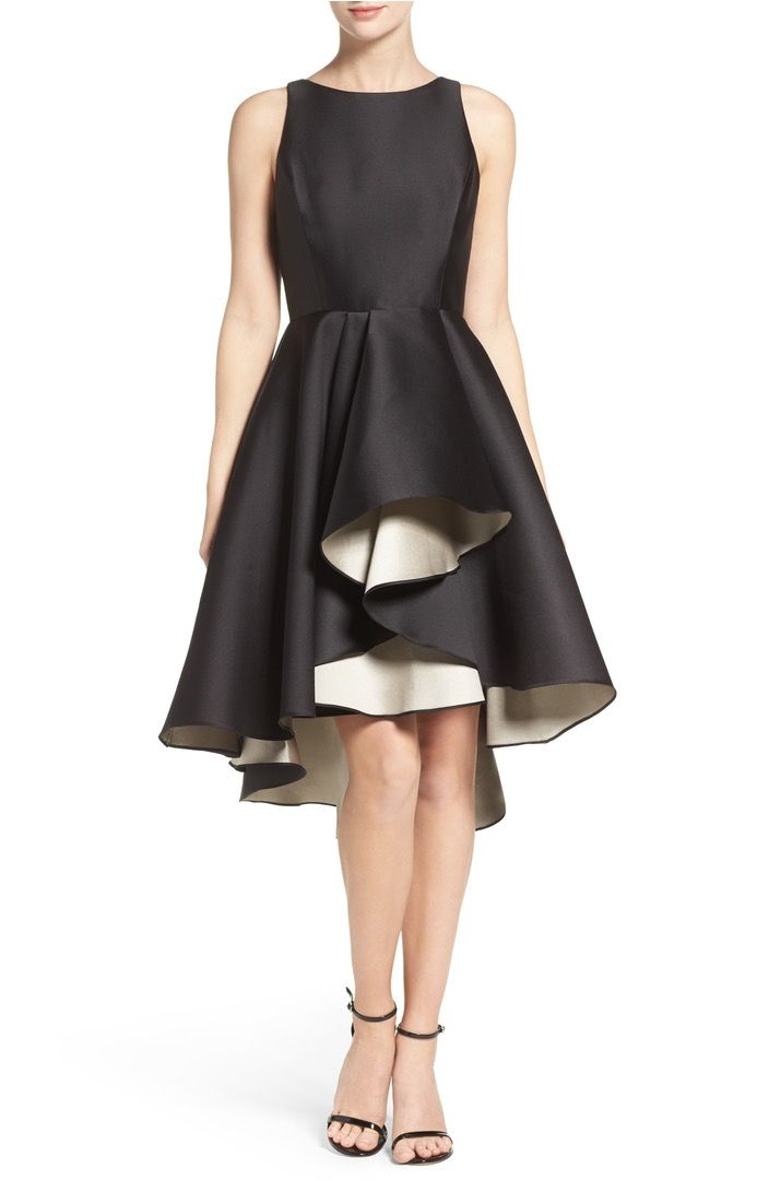 Nordstrom - Halston Heritage High/Low Fit & Flare Dress