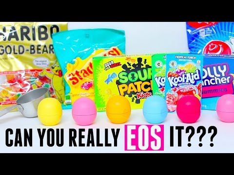 Can You Eos It - DIY Eos out of gummy bears starburst sour patch kids koolaid jolly rancher airheads - YouTube