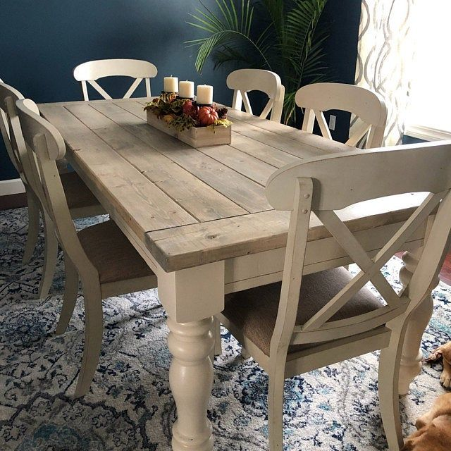 Unfinished Farmhouse Dining Table Legs Wood Legs Turned Etsy In 2020 Farmhouse Dining Table Farmhouse Dining Room Table Dining Table Redo