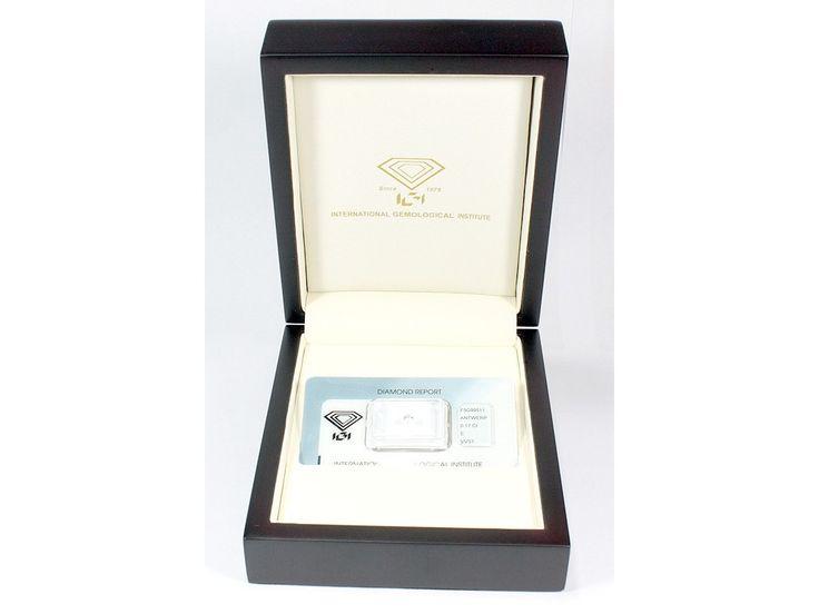 Diamante certificato IGI sigillato in blister carati 0,27 D-VVS2