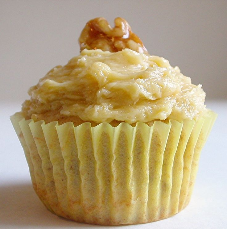 Maple-Walnut Cupcakes (from Martha Stewart's Baking Handbook) | Fall ...