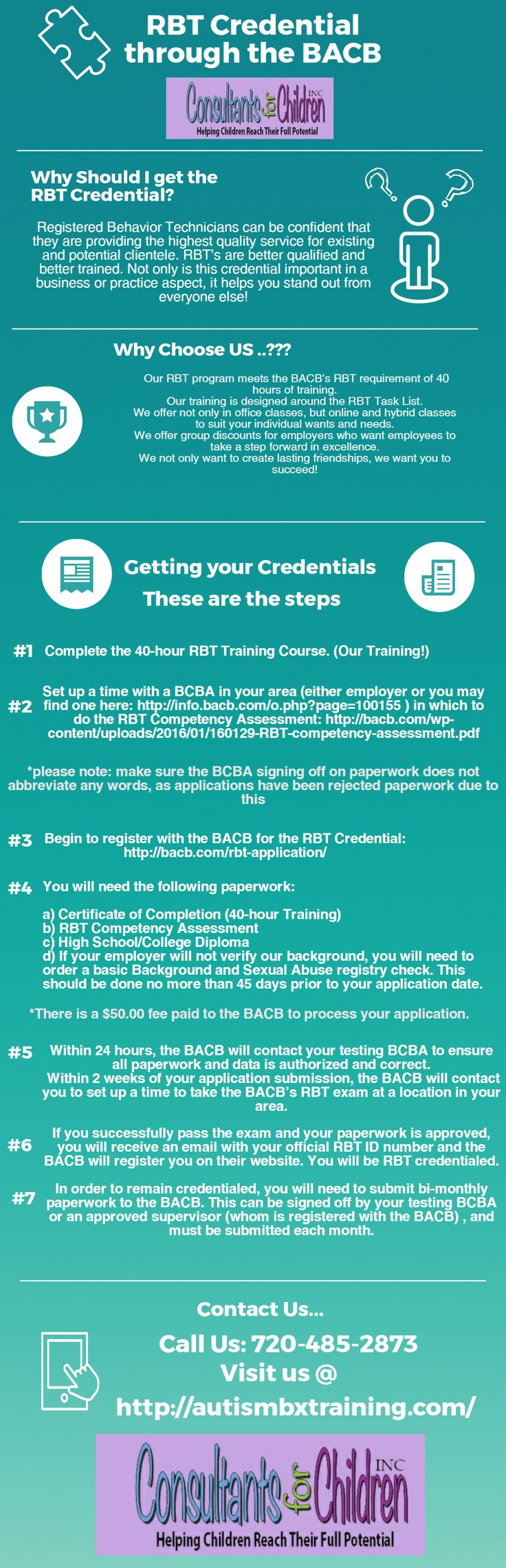 Looking for RBT credential through the bacb? Consultants
