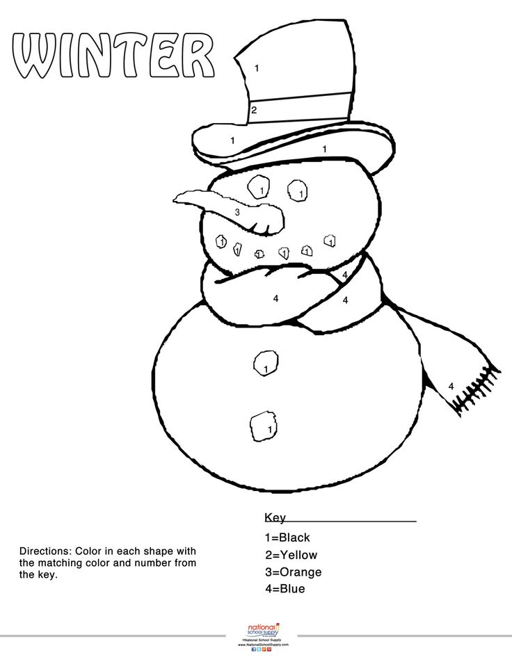 our winter color by number snowman printable printables pinterest snowman and school fun. Black Bedroom Furniture Sets. Home Design Ideas