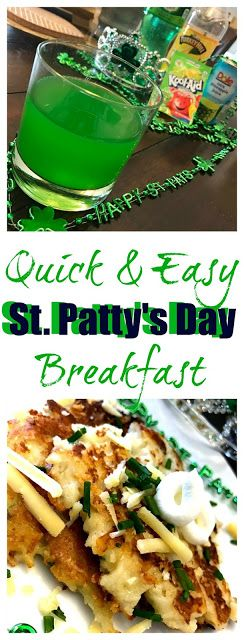 The Food Hussy!: Food Hussy Recipe: Quick & Easy St Patrick's Day Breakfast Punch & Cheesy Boxtys