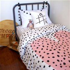 Heart Doona / Cream Nursery // We are a nursery and kids bed linen brand. #linen #heart #bed #kids #lifeinstyle