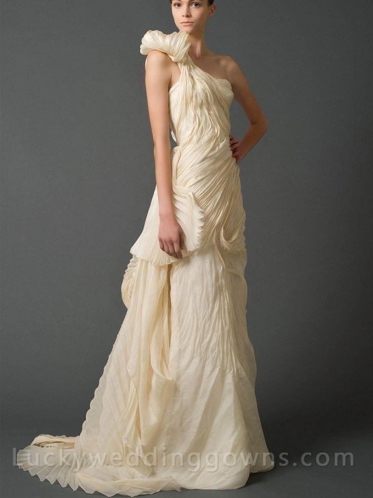 Luxury One Shoulder Soft Mermaid Bridal Gown