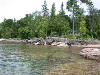 Lake Superior, 110 feet of pristine, waterfront on Pancake Bay. 2 guest cottages, sauna and more