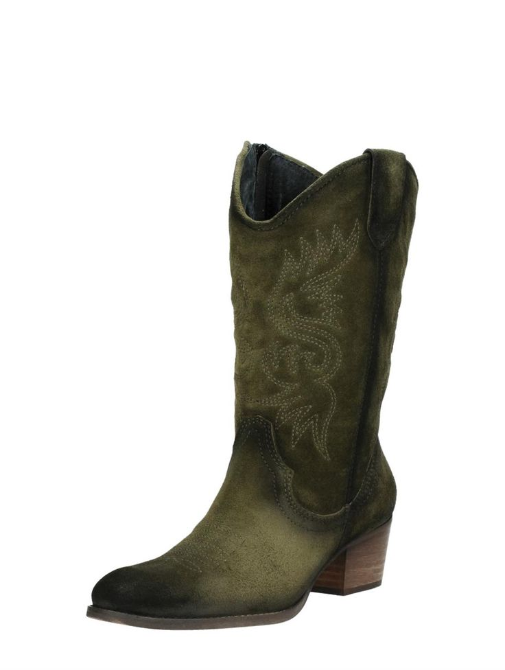 De leger groene western laarzen van Visions zijn echt té leuk! Echt iets voor onder je festivaloutfit.