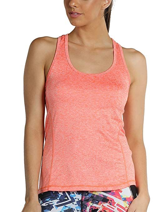 e42064ee382b4 icyzone Activewear Running Workouts Clothes Yoga Racerback Tank Tops Women  (XL