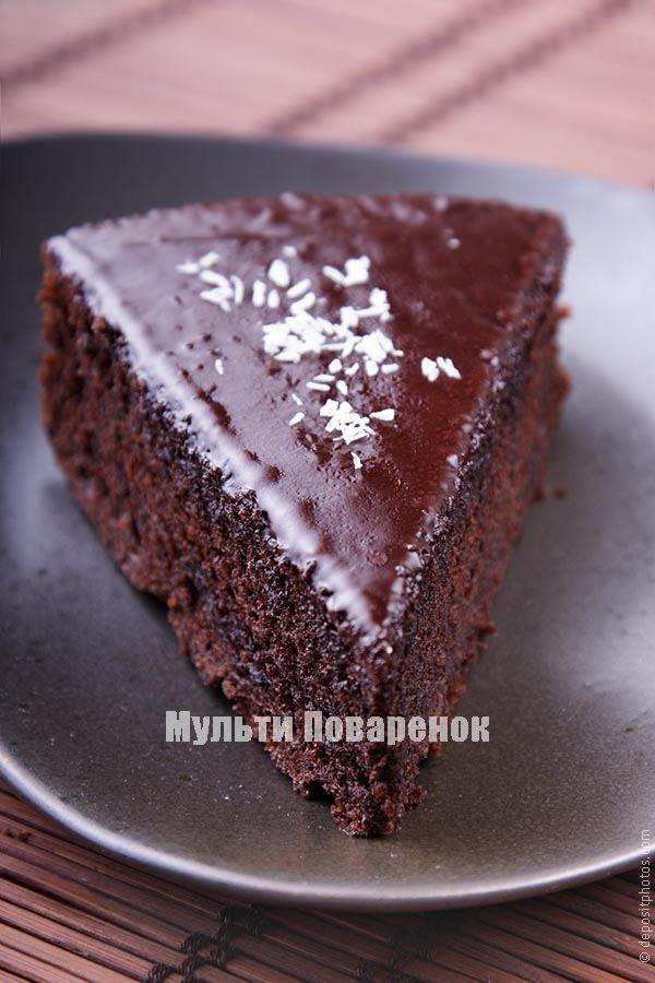 Шоколадный торт в мультиварке: рецепт для новичков | Мультиповаренок