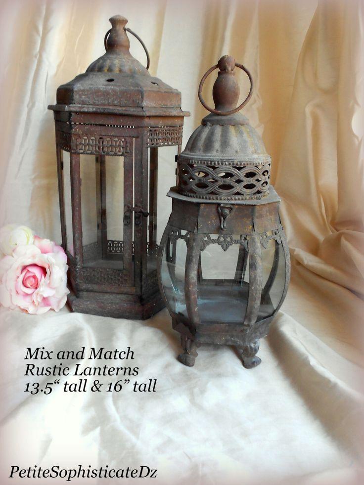 Sale mix match rustic lanterns indoor outdoor