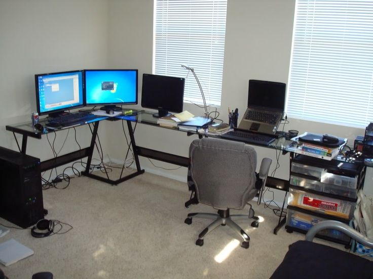 L Shaped Computer Desk For 2 Computers