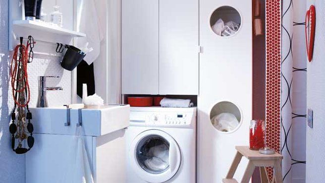 Optimiser espace salle de bains meuble astucieux