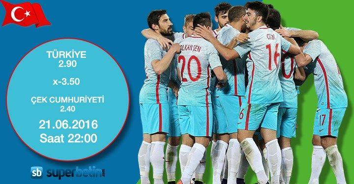 Haydi Türkiye Şimdi Zafer Zamanı! Türkiye-Çek Cumhuriyeti Euro 2016 Bahis Oranı #TUR #EURO2016 #Türkiye #pazartesi sayfam.co/... #Superbetin #Bahis #Türkiye #Turkey #Bet #Live #Betting #Canlı #BahisSeçenekleri #Türleri #Canlıbahis #Football #Futbol #Soccer #Basketbol #Basketball #Tennis #Tenis #Buzhokeyi #Hokey #Poker #Canlıpoker #Canlıbakara #Blackjack #Euro2016 #Summer #Casino #Casinoparty #Slots #Slotgames #Gaming