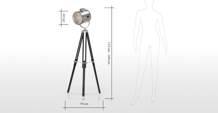 Alfred Tripod Floor Lamp in black | made.com