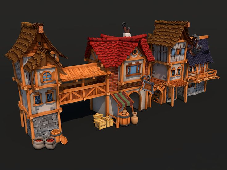 Town houses.. and stuff. >ᴗ< I'm slowly drawing to an end.. #gamedev #indiedev #ue4 #unity3d