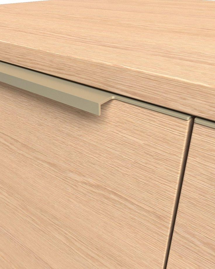 Edge let-in Handle UKW-11 M C-32 A UKW-11 M handle is suited to the shape of the doors and drawers of the kitchen. Modern line and high quality are the main characteristics. During the whole process of planning the whole series, maximum attention was given to the finishing details so that it has a direct influence on the aesthetics of the furniture. Available in many anodized colors and many finishings for the edges.
