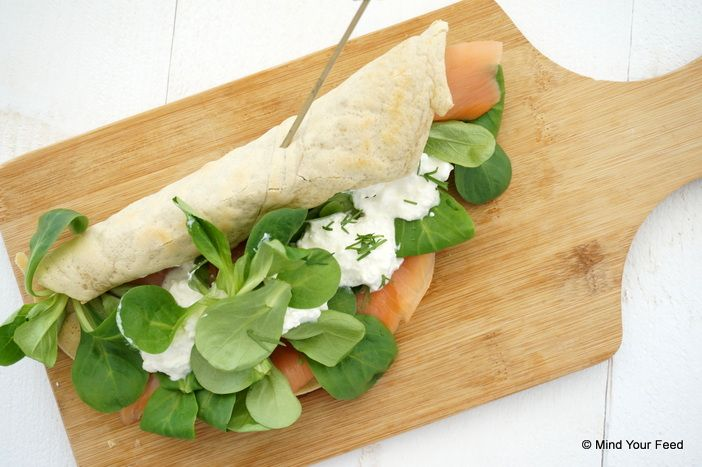 Havermout wraps met zalm - Mind Your Feed