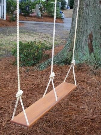 double tree swing... this would be awesome!