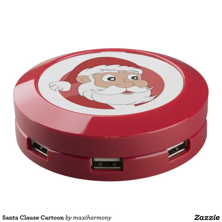Santa Clause Cartoon USB Charging Station