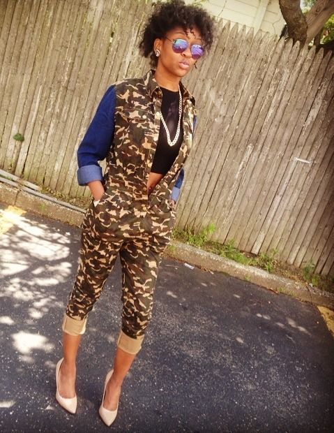 camouflage jumper #rehab $40