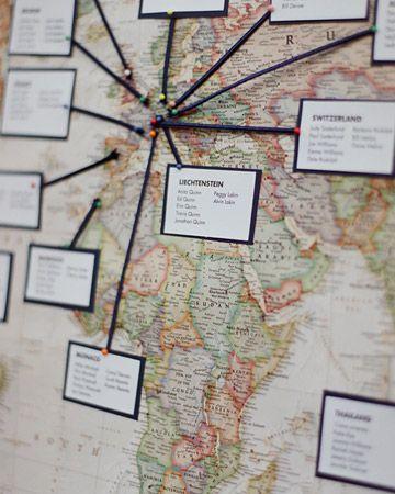 Plan de table sur base d'une carte ancienne