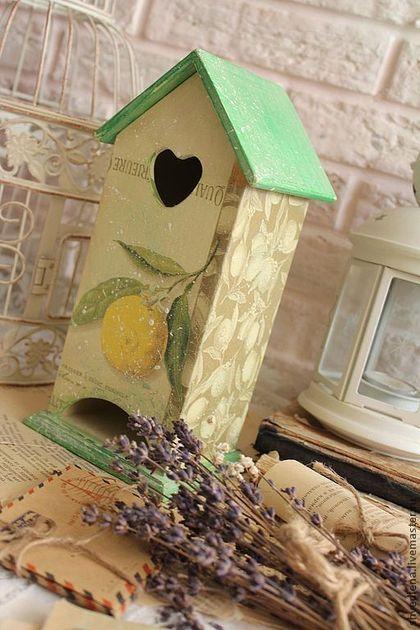 """Чайный домик """"Лимонный"""" - зелёный,лимон,чайный домик,чайный домик декупаж"""