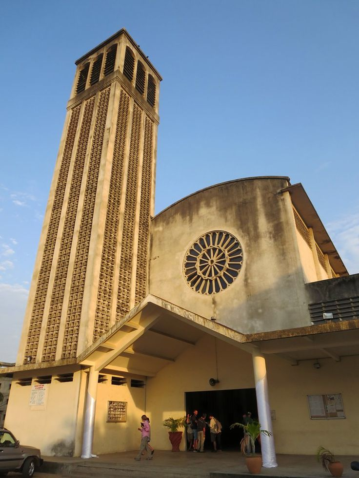 The Cathedral of Notre Dame de l'Assomption in Pointe-Noire, Republic of Congo, was erected in 1953.
