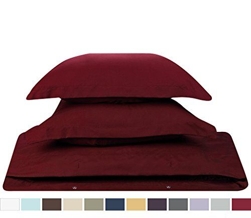 #1 Amazon Best Seller, 3-Piece Duvet Cover /1 Comforter Cover,- with 2 shames, (Queen Solid Burgundy Red,) By Nestl Bedding Supplies, Nestl Bedding http://www.amazon.com/dp/B00WYQ7XL2/ref=cm_sw_r_pi_dp_IdrOvb1V88AKS