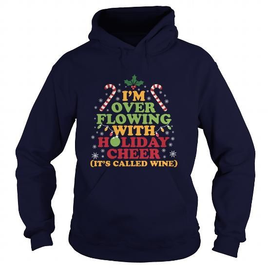 This funny Christmas hoodie is perfect for wine lovers. It features a festive look complete with mistletoe and candy canes. Other Christmas hoodies available for men and women as well as t-shirts, sweatshirts and other holiday apparel.