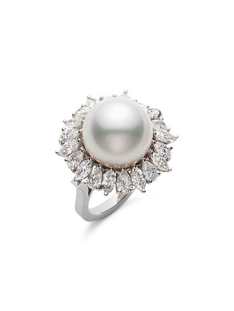 Recently REALLY into pearl engagement rings, specifically Tahitian. But this is BEAUTIFUL.