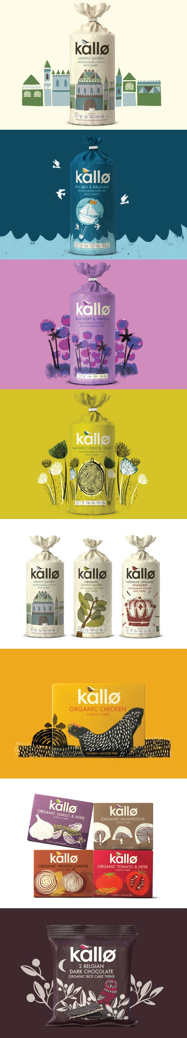 Cute design - Kallo Branding, Graphic Design, Packaging By Big Fish curated by Packaging Diva PD clever #snacks #packaging PD
