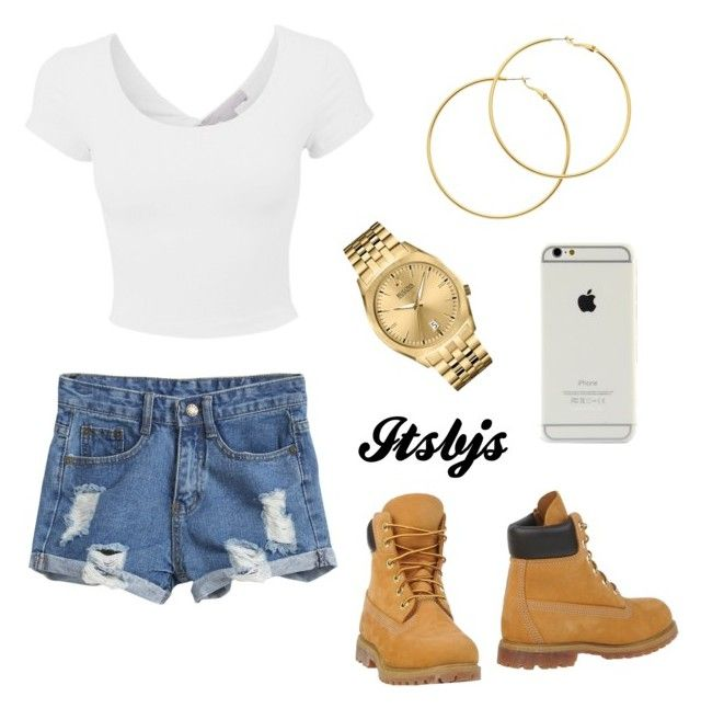 """""""White/gold/timberland/iPhone"""" by itsbjs on Polyvore"""
