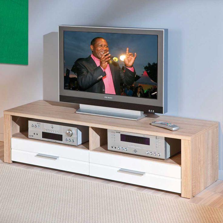 TV-Unterschrank in Sonoma Eiche Weiß 150 cm Jetzt bestellen unter: https://moebel.ladendirekt.de/wohnzimmer/tv-hifi-moebel/tv-lowboards/?uid=0e4af0f3-a79b-54eb-9e46-bcc0c7a8f5e5&utm_source=pinterest&utm_medium=pin&utm_campaign=boards #fernsehboard #rack #phonoschrank #tvboard #fernsehunterschrank #tische #tvhifimoebel #lowboard #fernsehtisch #unterschrank #möbel #fernsehkommode #phonomöbel #bank #tvtische #fern #sideboard #tvlowboards #wohnzimmer #kommode #board