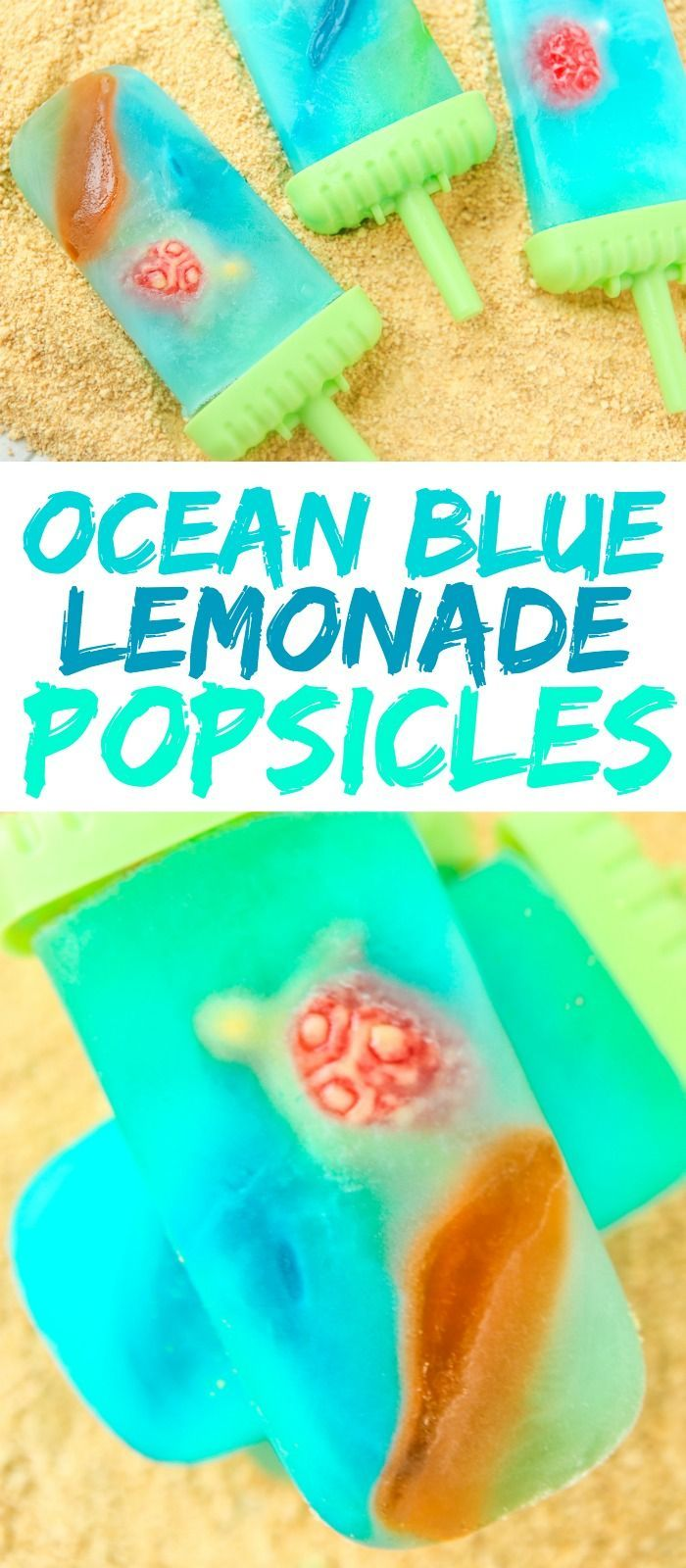 Have you ever seen those homemade popsicles with gummy bears? These ocean blue lemonade popsicles are like the beach and ocean version of those! These DIY popsicles may not be healthy but they're sure easy, delicious, and perfect for kids or for toddlers! And if you want to make them a little healthier this summer, you could always add a little fresh fruit with the gummy sharks and turtles!