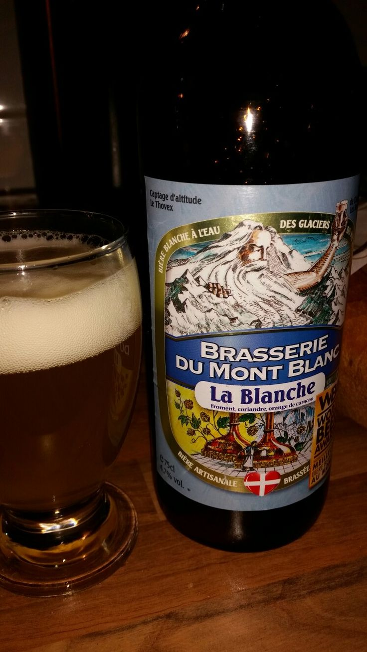 La Blanche. Brasserie Du Mont Blanc. Chamonix, France